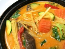 Thai red curry. royalty free stock photos