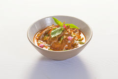 Thai red duck curry Stock Photo