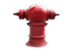 Thai red fire hydrant isolated Stock Photography