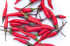 Thai red hot chilli on the white background, Red hot chilli isol Royalty Free Stock Image