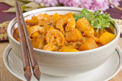 Thai Red Prawn Curry Royalty Free Stock Image