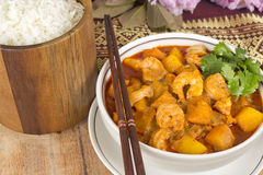 Thai Red Prawn Curry Stock Images