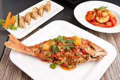 Thai Red Snapper with Tamarind Stock Images