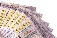Thai regerings- lotteri för närbild Arkivfoton