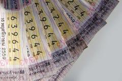 Thai regerings- lotteri för närbild Arkivbilder
