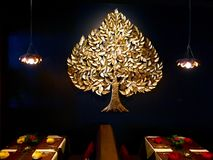 Thai restaurant concept. Interior design of Thai food restaurant royalty free stock images