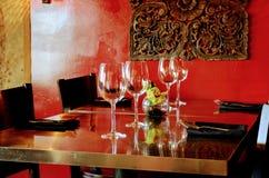 Thai Restaurant. Dinning Table Decoration of Thai Restaurant stock photo