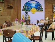 Thai restaurant. A interior design of a Thai restaurant royalty free stock image