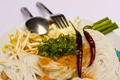 Thai rice noodle Royalty Free Stock Images