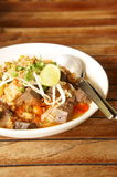 Thai rice noodle on wood table. Local food Royalty Free Stock Photos