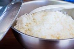 Thai rice in a pot. Stock Photos
