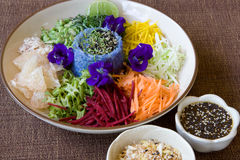 Thai rice salad with sesame dressing Stock Photography