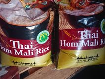 Thai Rice for sale stock image