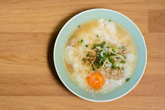 Thai rice soup. Local Thai rice soup with egg Stock Images