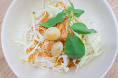 Thai rice vermicelli with curry Stock Image