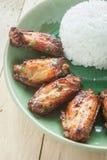 Thai riceFried chicken, fried porkfish sauce Stock Image