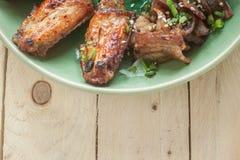 Thai riceFried chicken, fried porkfish sauce Royalty Free Stock Image