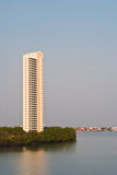Thai river with building. Royalty Free Stock Photography