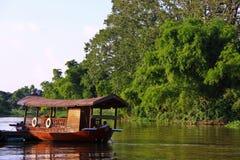 Thai riverboat in Supanburi, Thailand Royalty Free Stock Image