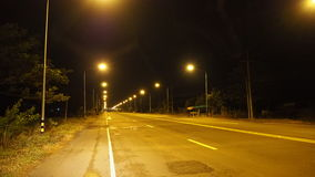 Thai road at  night Royalty Free Stock Images