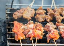 Thai roast pork in open market of Thailand Royalty Free Stock Image