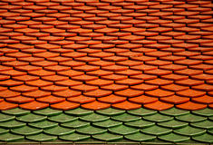 Thai Roof. Thailand is a tropical country Roof style is unique. Such as roof temple, monastery, house Stock Photo