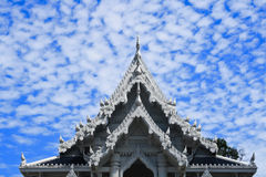 Thai roof. Design under a blue sky Stock Photography