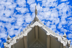 Thai roof. Design under a blue sky Royalty Free Stock Photo