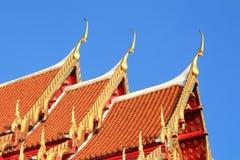Thai roof church at Thai temple Stock Photos