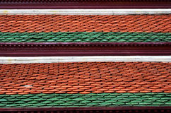 Thai roof material. Is tile Royalty Free Stock Photography