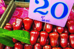 Thai rose apple. At a market in Bangkok Stock Images