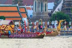 Thai Royal barge in Bangkok. BANGKOK, THAILAND - NOVEMBER 6: Thai Royal barge travel down Chao Phaya river to celebrate King of Thailand 85th birthday (December Royalty Free Stock Image