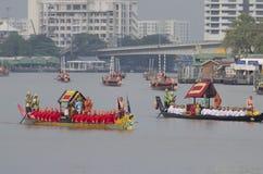 Thai Royal barge in Bangkok. BANGKOK, THAILAND - NOVEMBER 6: Thai Royal barge travel down Chao Phaya river to celebrate King of Thailand 85th birthday (December Royalty Free Stock Photos