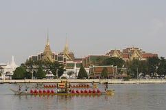 Thai Royal barge in Bangkok. BANGKOK, THAILAND - NOVEMBER 6: Thai Royal barge travel down Chao Phaya river to celebrate King of Thailand 85th birthday (December Stock Photos