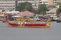 Thai Royal barge in Bangkok. BANGKOK, THAILAND - NOVEMBER 6: Thai Royal barge travel down Chao Phaya river to celebrate King of Thailand 85th birthday (December Stock Image