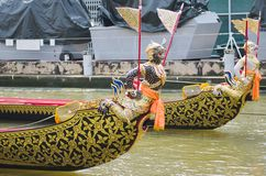 Thai royal barge. Supreme art of Thailand Royalty Free Stock Image