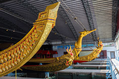 The Thai royal barges are used in the royal family during tradition reliogius procession to royal temple thailand Royalty Free Stock Photography