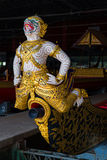 The Thai royal barges are used in the royal family during tradition reliogius procession to royal temple thailand Royalty Free Stock Image