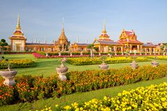 Thai royal funeral and Temple Royalty Free Stock Photos