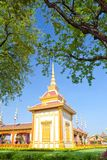 Thai royal funeral and Temple Royalty Free Stock Photo