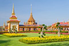 Thai royal funeral and Temple Stock Photo