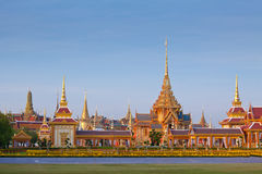 Thai royal funeral and Temple Stock Photography