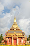 Thai royal funeral and Temple in bangkok Royalty Free Stock Photography