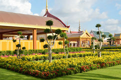 Thai royal funeral and Temple in bangkok Royalty Free Stock Photo