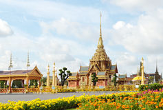 Thai royal funeral and Temple in bangkok Stock Image