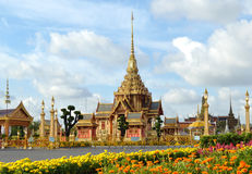 Thai royal funeral and Temple in bangkok Thailand Stock Image