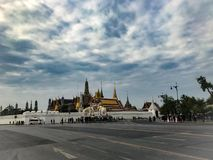 Thai royal palace in the morning. Royalty Free Stock Images