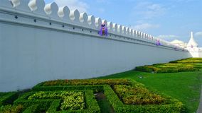 Thai royal palace wall Royalty Free Stock Image