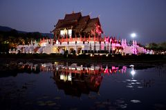 Thai royal pavilion (Ho Kum Luang) Stock Photo