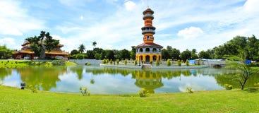 Thai Royal Residence at Bang Pa-In Royal Palace Royalty Free Stock Photo